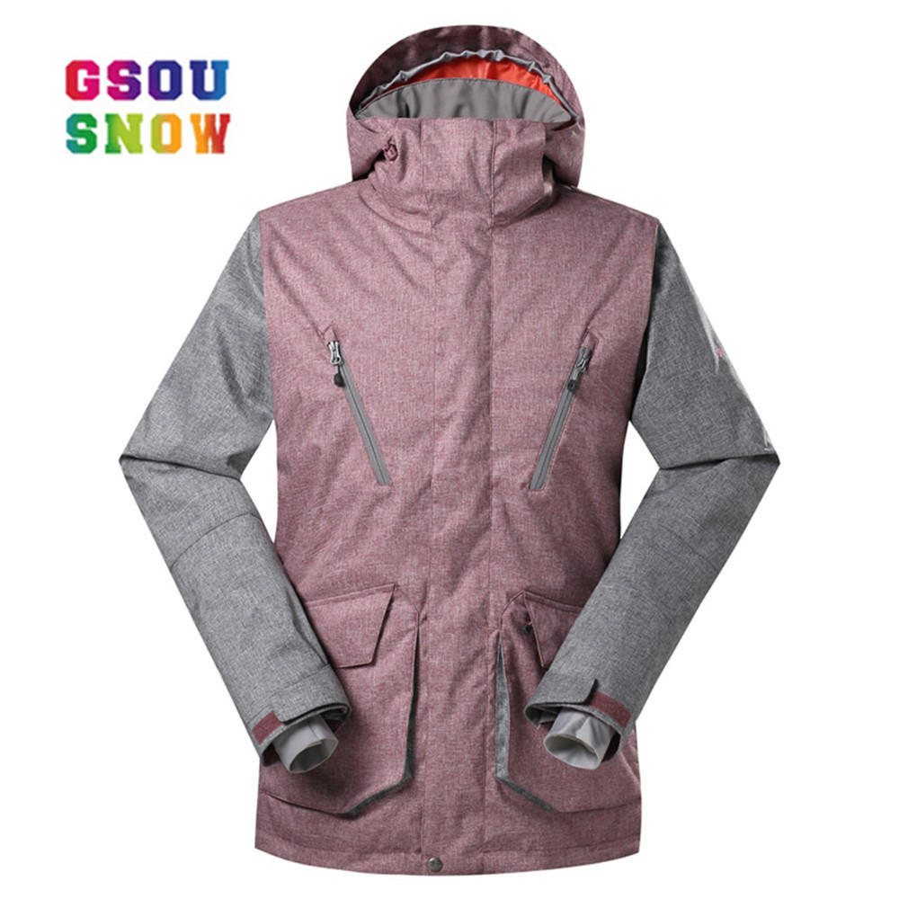 Gsou Snow skiing jacket male snowboard jacket Gsou Snow waterproof 10000 Ski Jacket Men snow coat outdoor skiing Winter wear giudi брелок для ключей