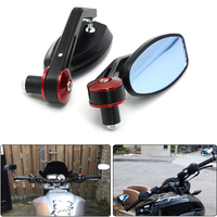 NEW Motorcycle Scooters Racer Rearview Side View HANDLE BAR END Mirror FOR KTM Bmw DUCATI Monster795
