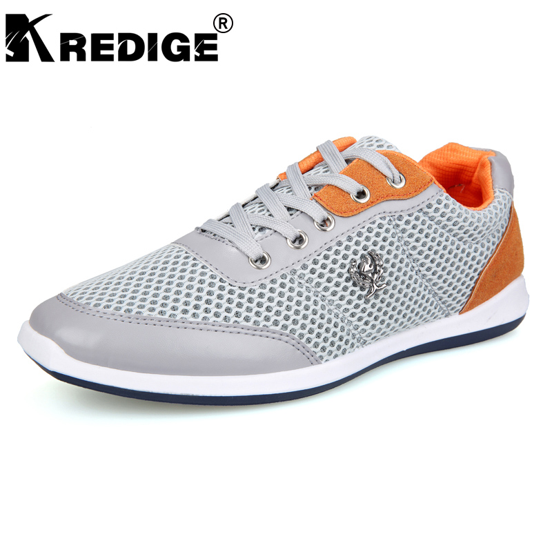 KREDIGE Air Mesh Casual Shoes Men British Wind Breathable Mesh Hard-Wearing Soles Shoes Anti-Odor Lace-Up Shoes Big Size 39-44 kredige anti odor zip tide leather shoes hard wearing mens casual shoes pu breathable waterproof plate shoes british style 39 44