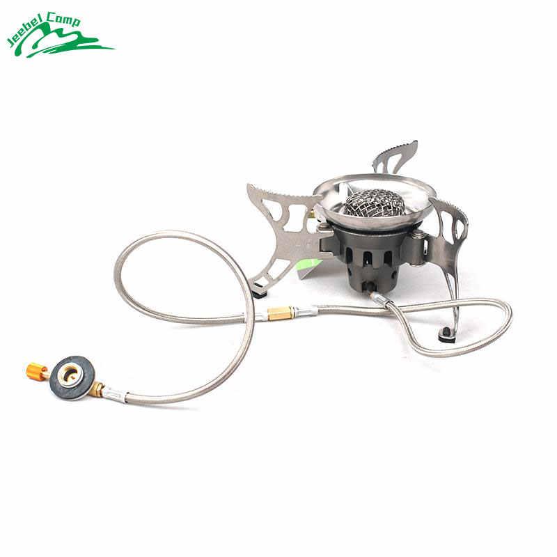 Dilwe Adaptador de Quemador de Estufa de Botella de Gas Conversi/ón Ligera de Quemador Acampa para Comida Campestre Camina Aire Libre F/ácil de Instalar
