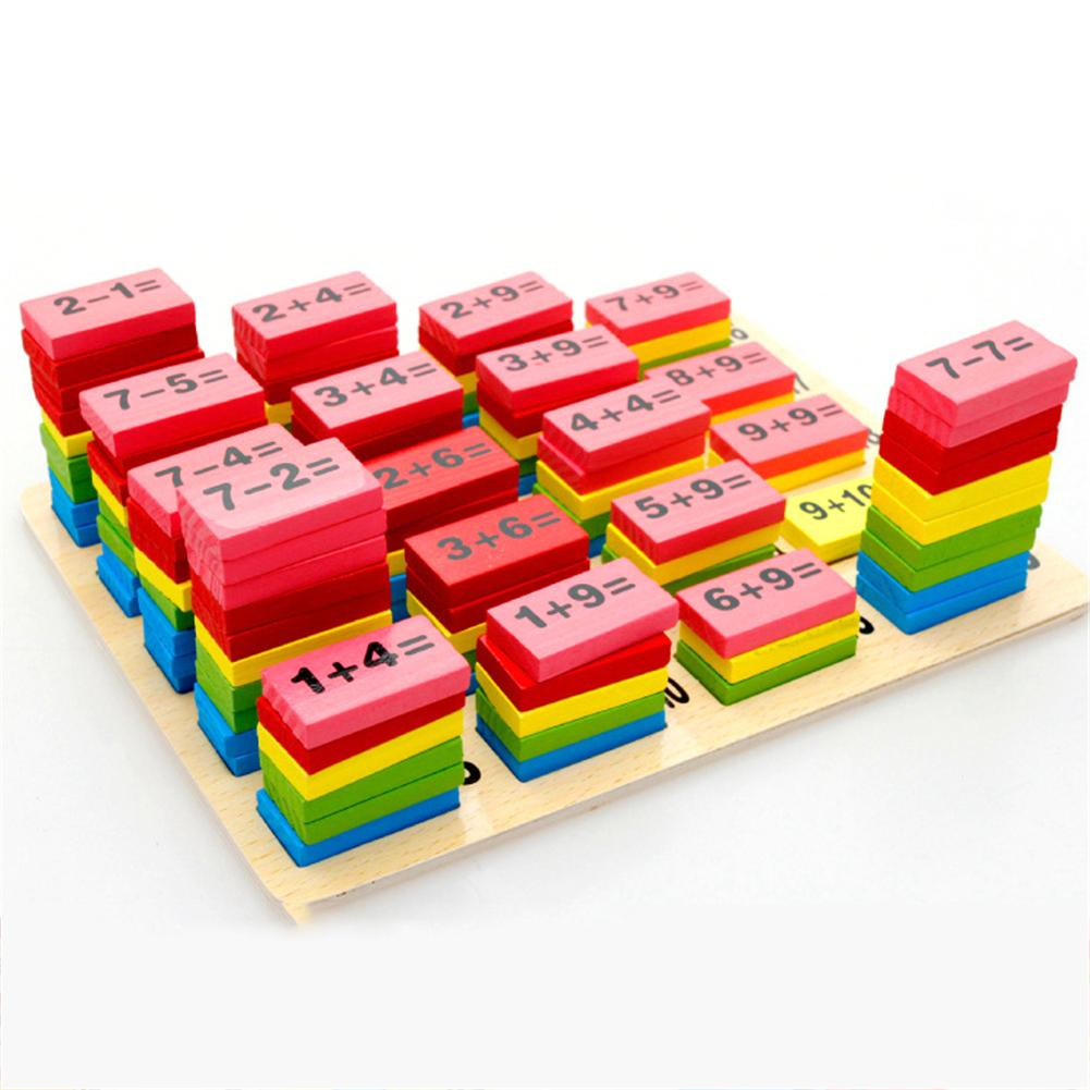 Bright Montessori Wooden Domino Blocks Education Blocks Kids Toys For Children Early Learning Cognitive Educational Toys Toys & Hobbies