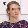 FEIDU Mulheres Óculos De Sol de Alta Qualidade de Grandes Dimensões Do Vintage Óculos Sem Aro de Metal Templos Super Popular Oculos de sol