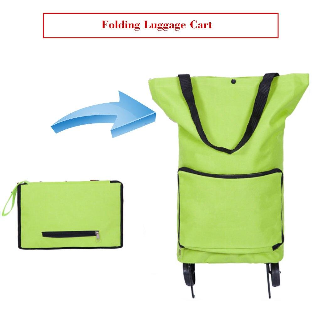 Korean style of the folded shopping cart fashion of the luxury portable  car luggage cart folded tug bag