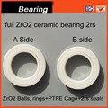 6902 2rs seals full zro2 CB ceramic bearing 6902-2rs 61902 -2rs cb 15*28*7mm