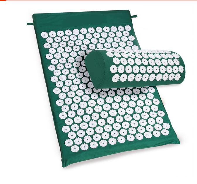 1 Set Yoga Acupressure Cushion pillow Body Massager Acupuncture Massage Spike Yoga Mat with Pillow Pain