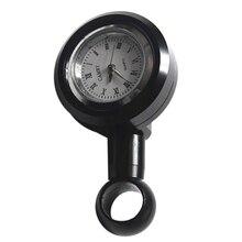 1 Pcs Universal Billet Aluminum Waterproof Motorcycle Handlebar Mount Clock Black Anti-shock Motorcycles Accessories