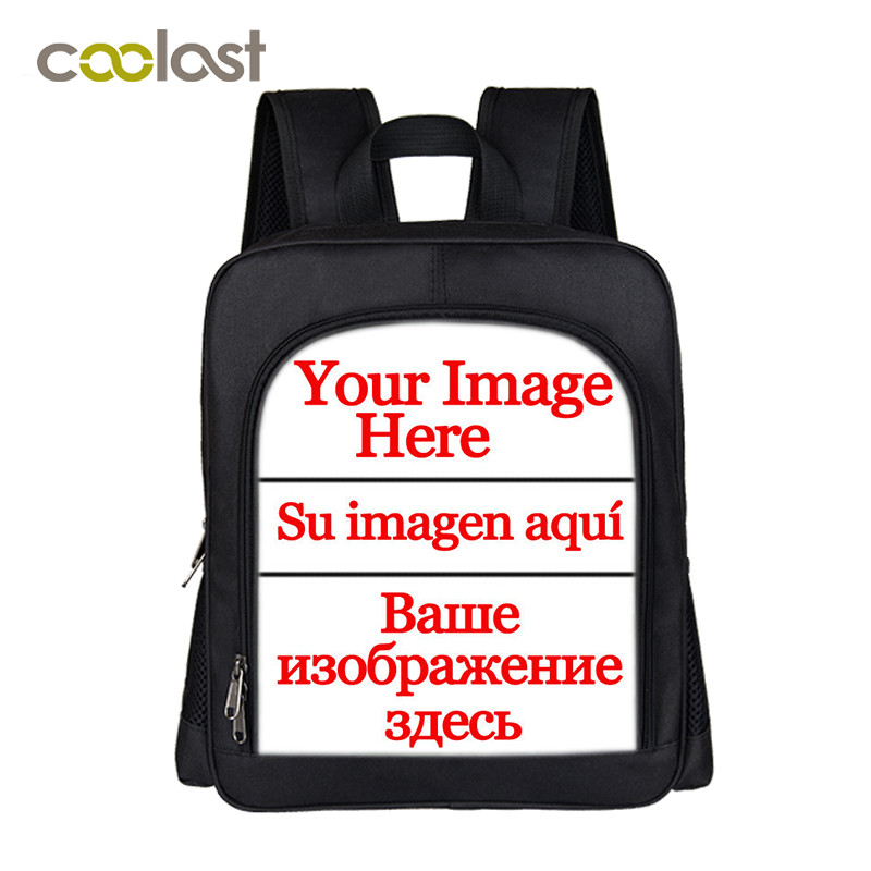 Custom Your Image Name Logo Backpack New School Backpack Children School Bags Cartoon Cat Boys Girls Unicorn Students Gift