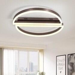 Pilot zdalnego sterowania led okrągła lampa sufitowa biały czarny Ultra cienkie akrylowa lampa do salonu łóżko pokój oprawa salon światła
