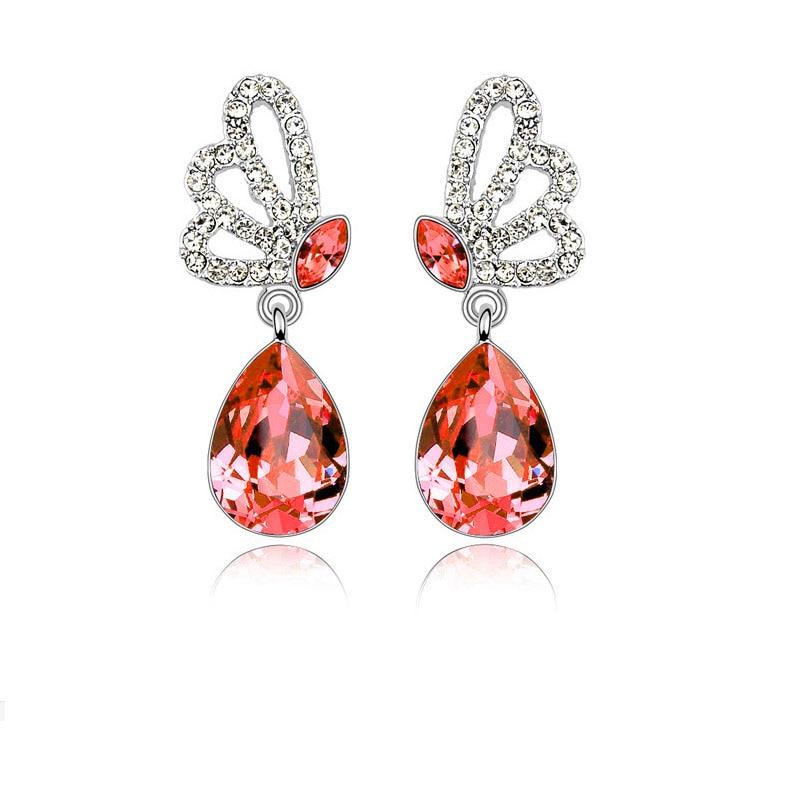 Elegant Alloy With Crystal Women's Earrings 2