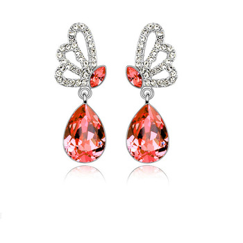 Elegant Alloy With Crystal Women's Earrings 2