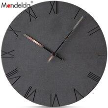 Mandelda Decorative Wall Clock 12inch Clocks Home Decor Numbers Set Self Adhesive  Watches Digital