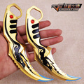 Through fire weapons, golden eagle claw 17 cm alloy models, props furnishing articles, children's toys sword. Anime weapon model
