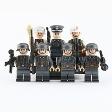 WW2 военный армейский солдатский цифры строительные блоки Пособия по немецкому языку медик Запчасти носилки оружие шлем аксессуары кирпичи игрушек для детей