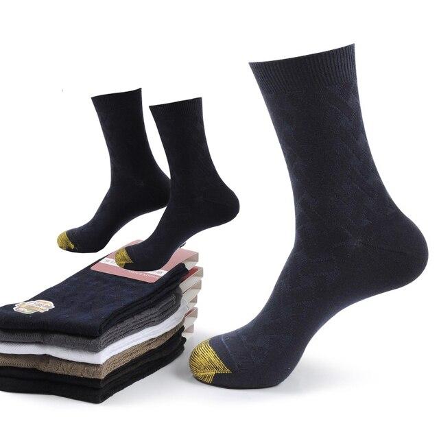 2020 نيوهيغ جودة الرجال الخيزران الألياف الجوارب الرجال مربع ضغط الأعمال فستان طويل الجوارب إزالة الروائح تنفس 6 زوج/وحدة
