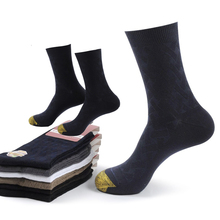 High Quality Men Winter Bamboo Fiber Socks Square Compression Business Dress Long Deodorization Breathable 6pairs/lot