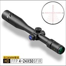Discovery HD 4-24X50 SFIR FFP IR-MIL Tactical Long Range Shooting Hunting riflescope 34mm Tube Rifle Scope  Illumination airguns