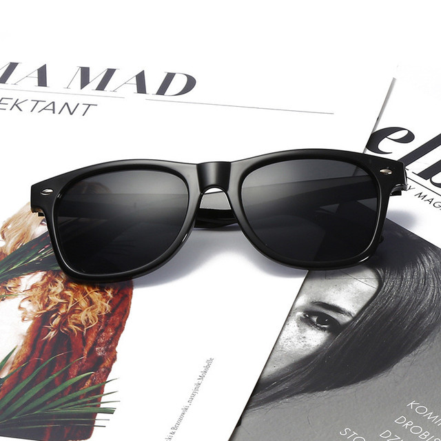 Fashion Sunglasses Women 2018 Men Sun Glasses Driving Mirrors Coating Points Black Frame Eyewear Male SunGlasses UV400