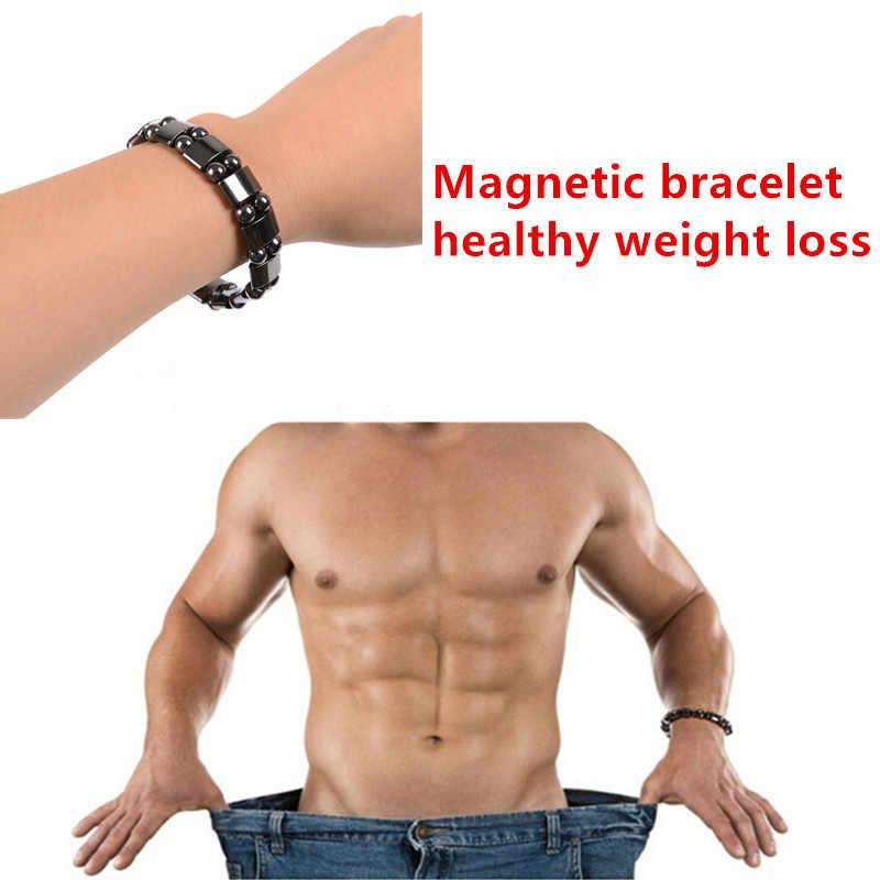 Магнитные терапевтические Здоровья Потери Веса эффективные браслеты из черного камня для похудения стимулирующие акупунктурные избавление от боли при артрите