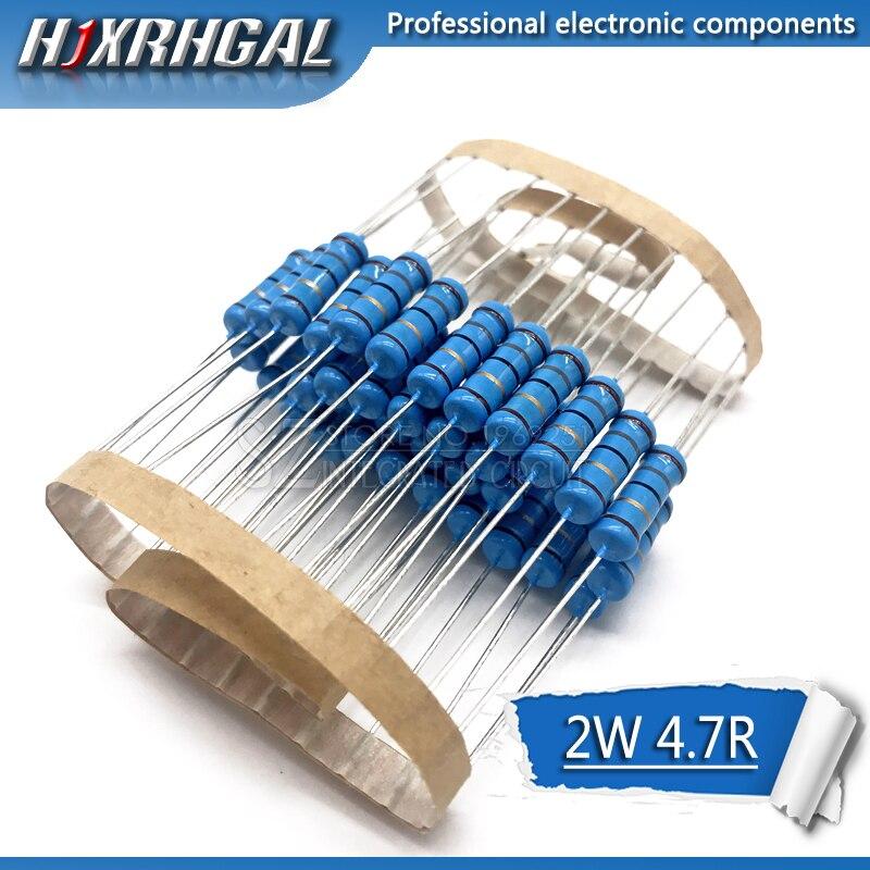 20pcs 4.7 Ohm 2W 4.7R 4R7 Metal Film Resistor Hjxrhgal