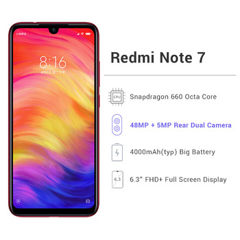 Global ROM Xiaomi Redmi Note 7 6GB RAM Cellphones & Telecommunications