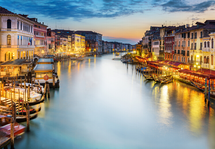 Venice City Night Wall Murals Wall Paper Bedroom TV Background Wall Decor Large Photo Wallpaper for Living Room blue earth cosmic sky zenith living room ceiling murals 3d wallpaper the living room bedroom study paper 3d wallpaper