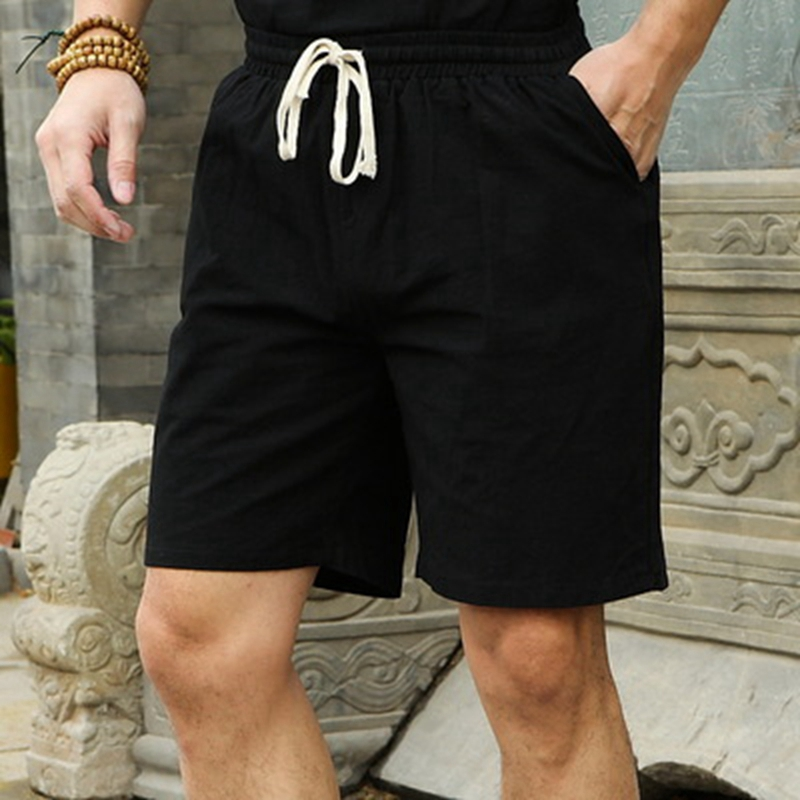 Men's Large Size Shorts XL 6XL 7XL 8XL 9XL 10XL Linen Cotton Summer Casual Stretch Sports Black Shorts Retro 50 Loose
