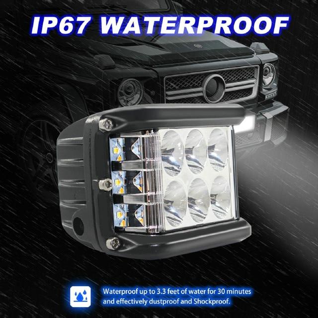 Новый светодиодный светильник для автомобилей 45 Вт Светодиодный светильник рабочий прожектор комбинированный боковой шутер для вождения внедорожников автомобильный трактор Luces светодиодный Para Auto