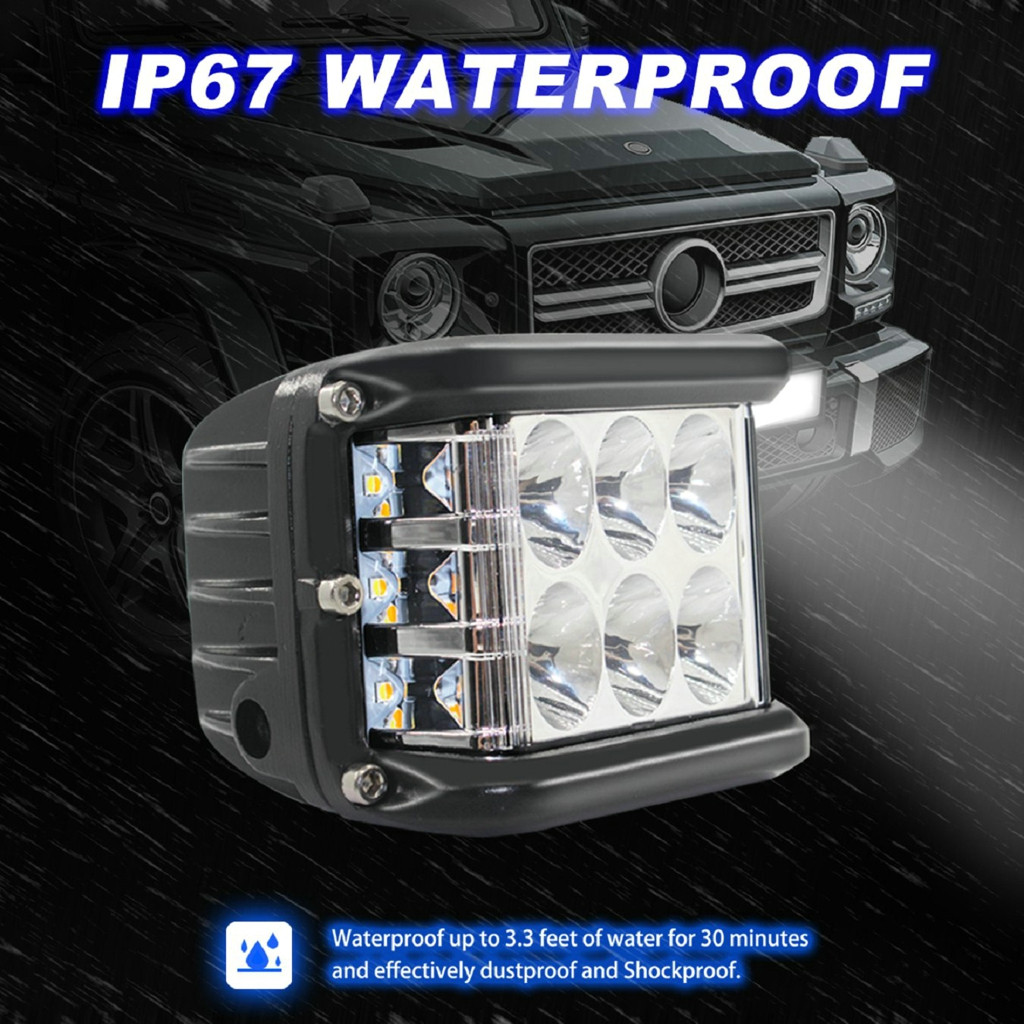 New LED Lamps For Cars 45W LED Light Work Flood Combo Side Shooter Driving Off Road SUV Car Tractor Luces Led Para Auto-in Light Bar/Work Light from Automobiles & Motorcycles