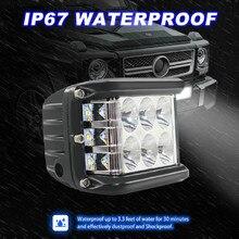 Nowe lampy LED do samochodów 45W światła LED praca powódź Combo boczna strzelanka jazdy Off Road SUV ciągnik samochodowy Luces Led Para Auto