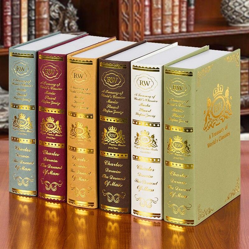 10 st europese jingmei europese decoratieve bronzing vintage props engels nep boekenkast klassieke model boek boek decoratie in 10 st europese jingmei