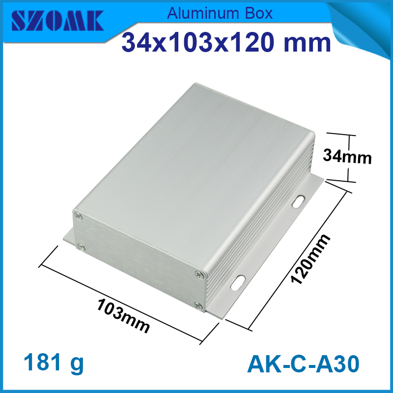 4 pcs lot distribution aluminum box in silver color diy box 34 103 120mm rack enclosure