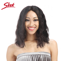 Sleek Short Lace Front Human Hair Wigs For Black Women Glueless Remy Brazilian Wavy Hair Half Bob Wig Perruque Cheveux Humain