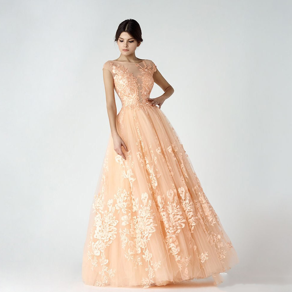 Magnificent Peach Evening Gown Mold - Images for wedding gown ideas ...