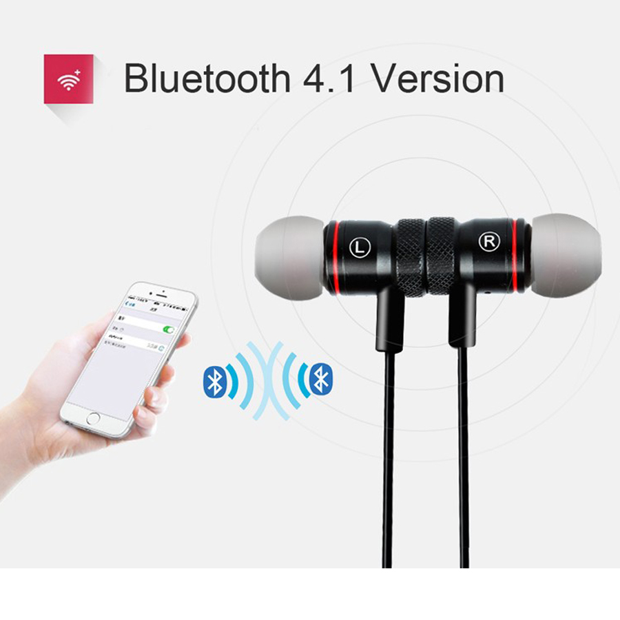 Blue shield M9 Bluetooth Earphone Wireless Sport Bluetooth 4.1 In-ear Stereo Music Earphones Headsfree PK Awei A920B for xiaomi
