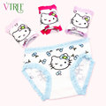 V-TREE Cotton underwear for girls cartoon hello kitty child panties 4pcs/lot girl underwear sizes kids briefs young girl panties