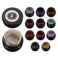 Espejo Efecto Metálico En Polvo Polvo de Pigmento de Cromo Brillando Polvos Mágicos Mirada Uñas Decoraciones Del Arte Del Clavo Con El Cepillo