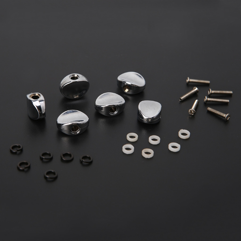 Guitar Tuning Pegs Accessories 6Pcs Replacement Guitar Tuners Machine Head Metal Buttons Tuning Pegs Parts