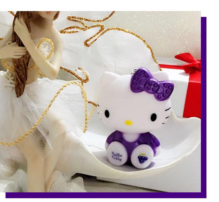 Blue or Purple Hello Kitty Car Key Chain