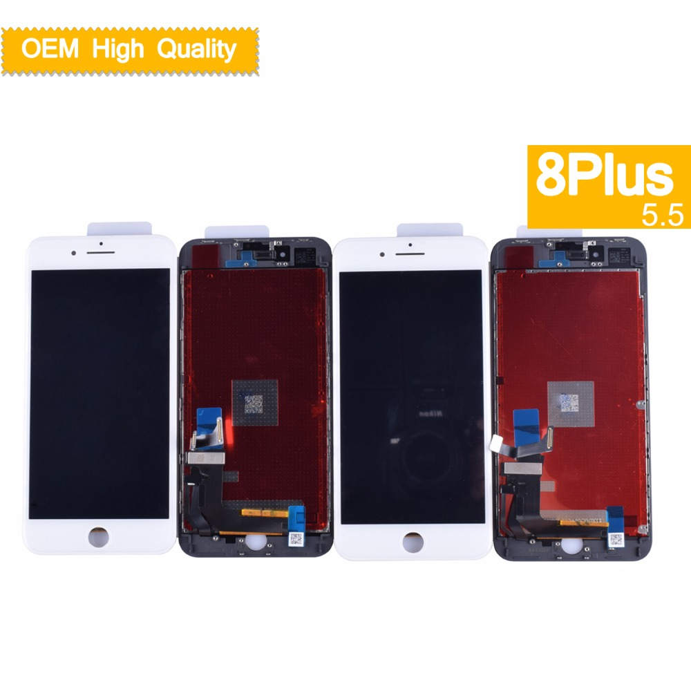 10pcs/lot LCD Complete For iPhone 8 Plus display screen 8Plus LCD Display Touch Screen Digitizer Assembly With 3D touch tianma(China)