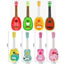 Musical Instrument Kid Guitar Montessori Educational Toy Fruit Animal Mini Ukulele Guitars Musical Toys For Children Learn Misic(China)
