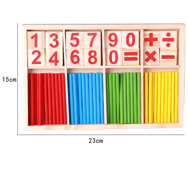 Wooden Counting Sticks Education Math Toys Montessori Mathematical Educational Parent-child Interaction Baby Children Gifts