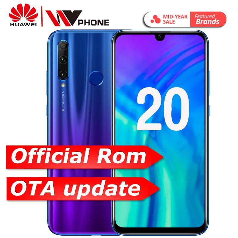 Huawei Honra 20 Kirin 980 Android 9.0 Tela de 6.26 polegada Do Telefone Móvel NFC 3750 mAh Bateria do Smartphone