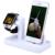 Criativo 2 em 1 multifunções suporte do telefone titular suporte de carregamento doca carregador para iwatch para iphone smartphone