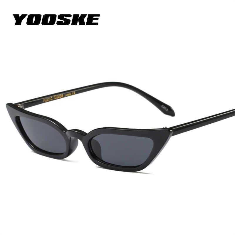 4c461f8a686b4 YOOSKE Sexy pequeño gato ojo gafas de sol de las mujeres Vintage Rojo Negro  gafas de