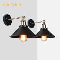 Lâmpada de parede industrial do vintage arandela luz 2 peças iluminação da parede interior  para sala estar quarto corredor  transporte rápido