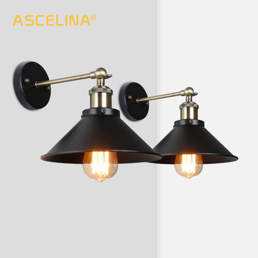 Vintage Wall Lamp Industrial Light Wall Sconce 2 Pieces Indoor Wall Lighting,for Living Room Bedroom Aisle,Fast Shipping