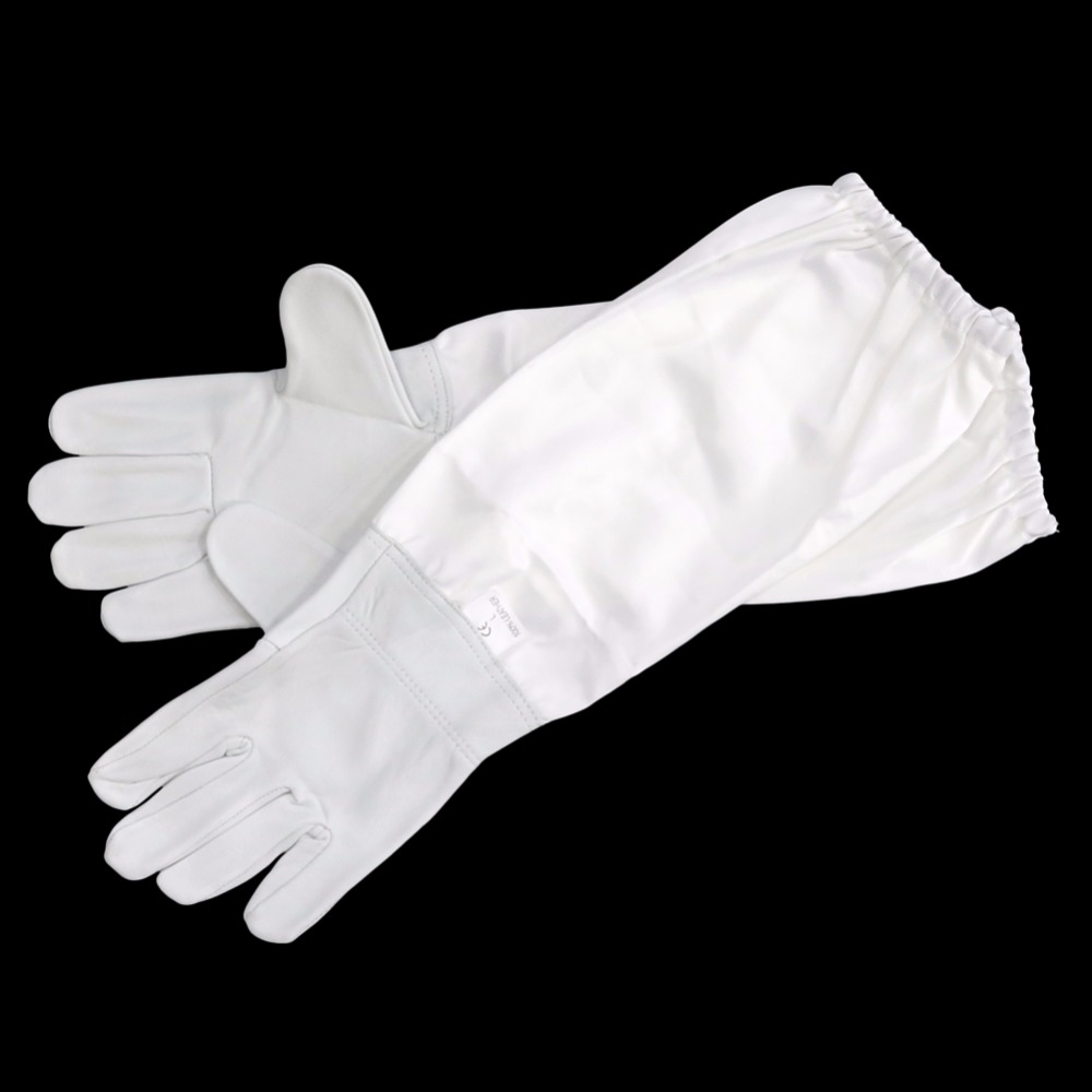 FB Beekeeping Gloves Sheepskin + breathable material Bee Tools Universal Model Canvas gloves We sell cut honey knife