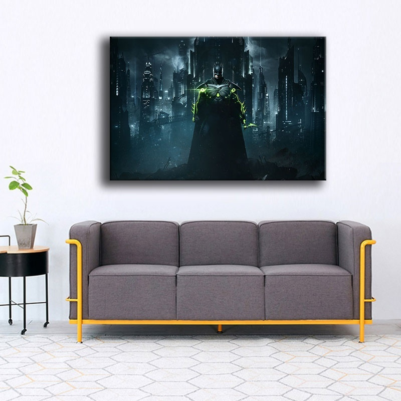 Canvas Painting HD Print Artworks Movie Superhero Poster For Bedroom Wall Decor 1 Piece Batman Picture Framework Or Framless in Painting Calligraphy from Home Garden