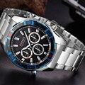 Curren hombres del reloj de acero ocasional reloj masculino ejército militar para hombre de negocios de primeras marcas de lujo relojes deportivos relojes de cuarzo reloj relogio