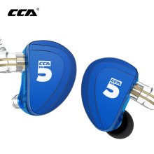 CCA A10 Earphones 5 Balanced Armature Driver In Ear Earphone HIFI Bass Monitor Earphone Earbuds With 2pin Cable KZ AS10 KZ BA10 tfz secret garden hifi hd dynamic driver in ear earphone with 2pin 0 78mm detachable iem rich bass quality music earphones